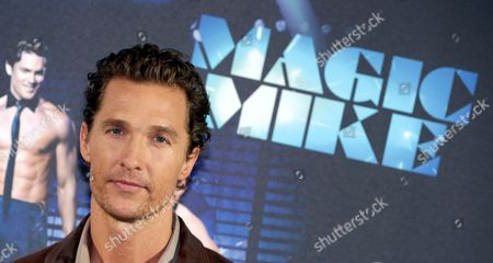 Us Actor/cast Member Matthew Mcconaughey Poses During a Photocall For 'Magic Mike' in Berlin Germany 12 July 2012 the Movie Will Be Screened in German Theatres From 16 August 2012 Onwards Germany Berlin