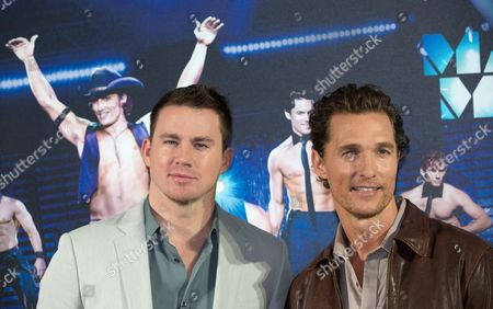 Us Actors/cast Members Channing Tatum (l) and Matthew Mcconaughey Pose During a Photocall For 'Magic Mike' in Berlin Germany 12 July 2012 the Movie Will Be Screened in German Theatres From 16 August 2012 Onwards Germany Berlin