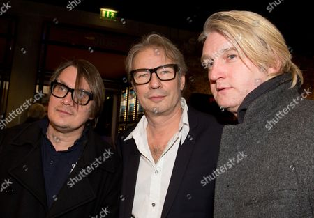 Directos Sven Regener (l-r) Leander Haussmann and Detlev Buck Arrive For the Premiere of 'Hai-alarm Am Mueggelsee' (lit : Shark Alert at Mueggelsee' in Berlin Germany 14 March 2013 Germany Berlin
