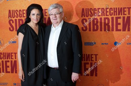 German Producer Minu Barati (l) and Her Husband Former German Foreign Minister Joschka Fischer Arrive For the Premiere of 'Ausgerechnet Sibirien' (lit : Siberia of All Things) at the Kulturbrauerei in Berlin Germany 09 May 2012 the Movie Opens in German Theatres on 10 May Germany Berlin