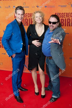 Actors/cast Members Vladimir Burlakov (l-r) Katja Riemann and Armin Rohde Arrive For the Premiere of 'Ausgerechnet Sibirien' (lit : Siberia of All Things) at the Kulturbrauerei in Berlin Germany 09 May 2012 the Movie Opens in German Theatres on 10 May Germany Berlin