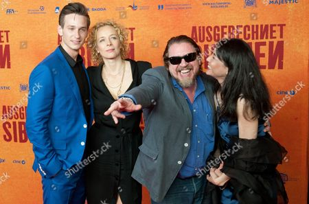 Actors/cast Members Vladimir Burlakov (l-r) Katja Riemann Armin Rohde and Julya Men Arrive For the Premiere of 'Ausgerechnet Sibirien' (lit : Siberia of All Things) at the Kulturbrauerei in Berlin Germany 09 May 2012 the Movie Opens in German Theatres on 10 May Germany Berlin