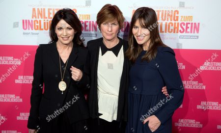 German Actresses Iris Berben (l) and Johanna Wokalek and Us Director Sherry Hormann (c) Arrive For the Premiere of 'Anleitung Zum Ungluecklichsein' ('the Pursuit of Unhappiness') at Kulturbrauerei in Berlin Germany 20 November 2012 Germany Berlin