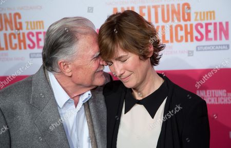 German Cinematographer Michael Ballhaus (l) and Us Director Sherry Hormann Arrive For the Premiere of 'Anleitung Zum Ungluecklichsein' ('the Pursuit of Unhappiness') at Kulturbrauerei in Berlin Germany 20 November 2012 Germany Berlin