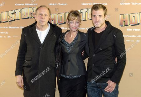 (l-r) Actors Ulrich Tukur and Jenny Schily and Director Bastian Guenther Arrive For the Premiere of 'Houston' in Berlin Germany 19 November 2013 the Movie Opens in German Theaters on 05 December Germany Berlin