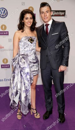 Georgian-born British Singer Katie Melua (l) and Her Husband James Toseland Arrive For the 2013 Echo Music Awards in Berlin Germany 21 March 2013 Germany Berlin