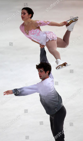 Lindsay Davis and Rockne Brubaker From the Us Perform at the 45th Nebelhorn Trophy at the Ice Skating Center in Oberstdorf Germany 27 September 2013 Germany Oberstdorf