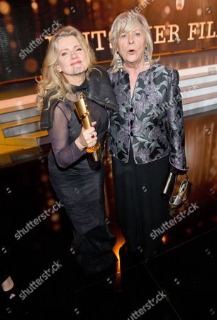 A Photo Made Available 27 April 203 Shows Internationally Renowned German Actress Barbara Sukowa (l) and Director Margarethe Von Trotta (r) Posing For Photographs After the Presentation of the 'Lola' the German Film Awards at a Gala in Berlin Germany Late 26 April 2013 the Award is Germany's Most Prestigious Movie Award and was Presented For the 63rd Time Sukowa Received the 'Lola' Award As Best Leading Actress For Her Role in the Movie 'Hannah Arendt' Germany Berlin