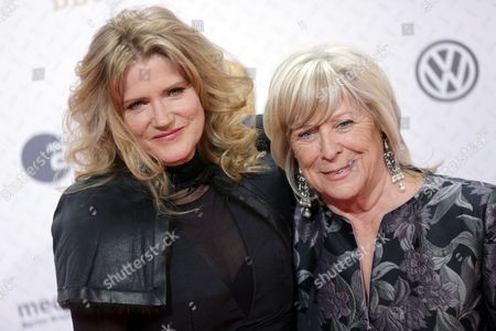 German Actress Barbara Sukowa (l) and German Director Margarethe Von Trotta Arrive For the Ceremony of the 63rd German Film Awards in Berlin Germany 26 April 2013 Germany Berlin