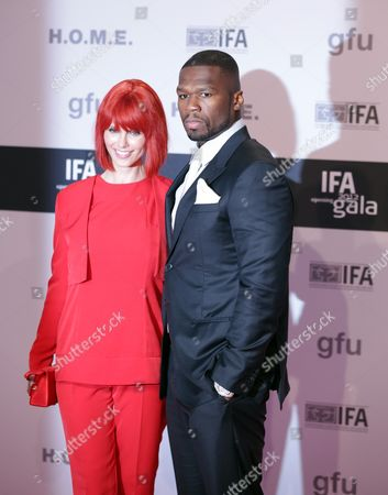 Us Rapper Curtis James Jackson Iii Aka 50 Cent (r) and Miss Ifa 2012 (l) Arrive at the Opening Gala of the International Radio Exhibition (ifa) 2012 in Berlin Germany 30 August 2012 the Ifa One of the World's Leading Exhibitions For Consumer Electronics Opens Its Gates on 31 August and Will Last Until 05 September 2012 at the Fairground Around Berlin's Old Radio Tower Germany Berlin