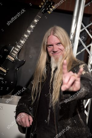 Finnish Musician Marco Hietala From the Band Nightwish Poses at the Metal Hammer Awards in Berlin Germany 13 September 2013 Marco Hietala Received the Trophy For Best International Band at the Annual German Music Award Event Germany Berlin