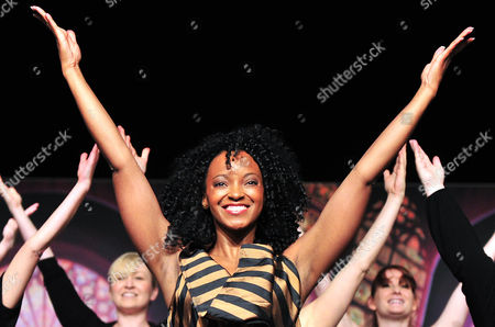 Zodwa Selele Lead Actress in the Musical 'Sister Act' in the Role of Deloris Van Cartier Performs During the Presentation of Lead Actors at the Apollo Theater in Stuttgart Germany 23 October 2012 the Broadway Musical Premieres on 09 December 2012 Germany Stuttgart