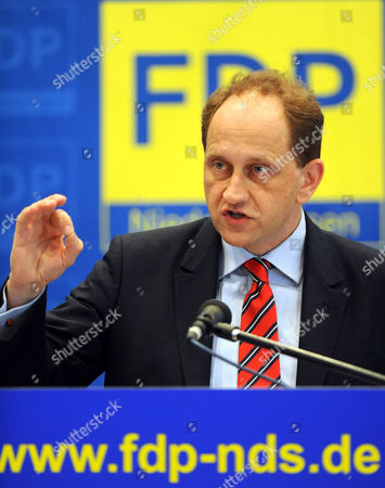 Chairman of the Free Democratic Party (fdp) in the European Parliament Alexander Graf Lambsdorff Speaks As Top Fdpácandidate For the European Elections at the Convention of the Lower Saxony Fdp in Oldenburg ágermany 22 March 2014 Germany Oldenburg