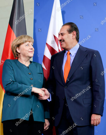 Editorial picture of Germany Qatar Visit - Apr 2013