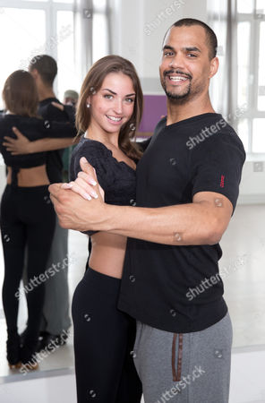 Presenter Patrice Bouedibela and Professional Dancer Ekaterina Leonova Train For the German Tv Show 'Let's Dance' (dancing with the Stars) in Berlin Germany 21 March 2014 the New Season Starts on 28 March Germany Berlin