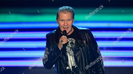A Photo Made Available 27 October 2013 Shows Irish Singer Johnny Logan Performing During the German Television Live Broadcast Music Show 'Willkommen Bei Carmen Nebel' (welcome at Carmen Nebel) at the Getec-arena in Magdeburg Germany 26 October 2013 Germany Magdeburg