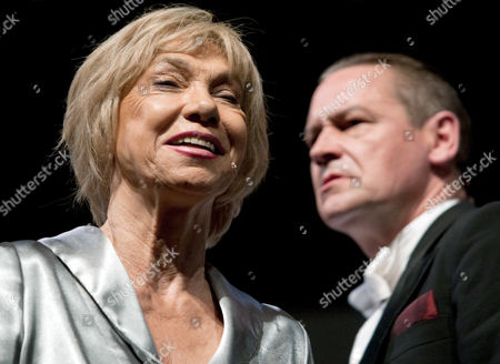 Geman Actress Judy Winter (l) As Hilde and Stephan Benson As Mephisto Perform During a Rehearsal For the Play 'Hilde Knef - the Devil and the Diva' at Theater Am Kurfuerstendamm in Berlin Germany 30 May 2013 Knef was the First German Actress Being Celebrated on Broadway and One of the Last German Divas the Piece Premiers 01 June 2013 Germany Berlin