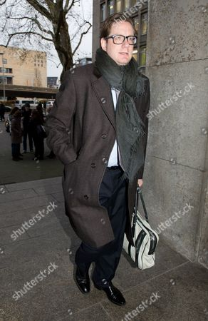 Stock Photo of Film Producer David Groenewold Walk to the Regional Court For the Trial on Former German President Wulff in Hanover ágermany 05 December 2013 Groenewold is a Witness in the Case Against Former German President Wulff who is Charged with Accepting Favours Germany Hanover