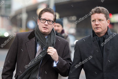 Stock Picture of Film Producer David Groenewold (l) and His Lawyer Friedrich Schultehinrichs Walk to the Regional Court For the Trial on Former German President Wulff in Hanover ágermany 05 December 2013 Groenewold is a Witness in the Case Against Former German President Wulff who is Charged with Accepting Favours Germany Hanover