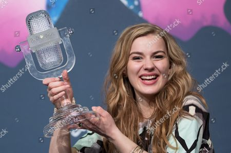 Danish Singer Emmelie De Forest Smiles After Winning with Her Song 'Only Teardrops' During the Grand Final of the 58th Annual Eurovision Song Contest at the Malmo Arena in Malmo Sweden 18 May 2013 the Annual Event is Watched by Millions of Television Viewers who Also Take Part in Voting Sweden Malmoe