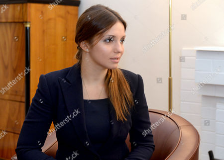 Yevhenia Tymoshenko Daughter of Julia Tymoshenko During a Meeting with German Foreign Minister Guido Westerwelle (not Seen) in Kiev Ukraine 11 October 2013 One of the Topics They Discussed was the Release of Former Ukrainian Prime Minister Julia Tymoshenko who is Serving a Seven Year Prison Sentence For Abuse of Power During Her Rule Ukraine Kiev