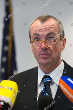 American Ambassador Philip D Murphy Makes a Statement About the Terrorist Attack in Boston in Berlin Germany 16 April 2013 the American Ambassador Thanked Germany For Its Solidarity Germany Berlin