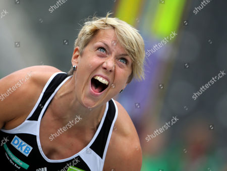 Germany's Christina Obergfoell in Action During the Javelin Throw Competition of the International Athletics Meet Istaf at Olympiastadion in Berlin Germany 01 September 2013 Germany Berlin
