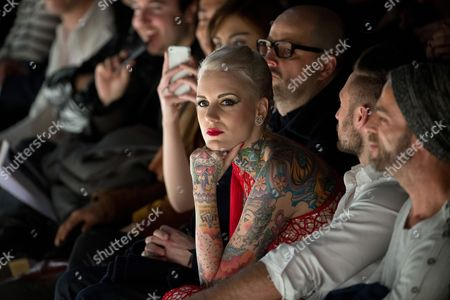 Austrian-born Tattoo Model Lexy Hell (c) Attends the Marc Stone Show During the Mercedes-benz Fashion Week in Berlin Germany 15 January 2013 the Presentations of the Fall-winter 2013/2014 Collections Takes Place at the Mercedes-benz Fashion Week Berlin From 15 to 18 January Germany Berlin