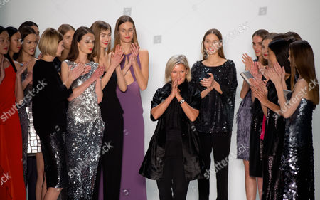 Designer Elisabeth Schwaiger (c) Thanks the Audience After Her Show For Laurel During the Mercedes-benz Fashion Week in Berlin Germany 17 January 2013 the Presentations of the Fall-winter 2013/2014 Collections Take Place From 15 to 18 January Germany Berlin
