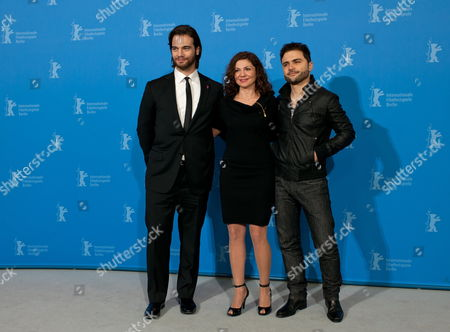 (l-r) Greek Actor Theo Alexander Russian-born Actress Tamila Koulieva and Greek Director Spiros Stathoulopoulos Pose at a Photocall For the Movie 'Meteora' During the 62nd Berlin International Film Festival in Berlin Germany 12 February 2012 the Movie is Presented in Competition at the Berlinale That Runs From 09 to 19 February Germany Berlin