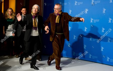 The Director of the 62nd Berlin International Film Festival Dieter Koslick (r) Arrives with Members of the Festival Jury (l-r) Barbara Sukowa François Ozon and Boualem Sansal For the Photocall of the Jury in Berlin Germany 09 February 2012 the Berlinale is Running From 09 to 19 February Germany Berlin