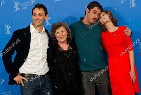Portuguese Actress Teresa Madruga (2-l) Actor Ivo Mueller (l) Portuguese Actress Ana Moreira (r) and Portuguese Director Miguel Gomes Pose at a Photocall For Their Movie 'Tabu' During the 62nd Berlin International Film Festival in Berlin Germany 14 February 2012 the Movie is Presented in Competition at the 62nd Berlinale That Runs From 09 to 19 February Germany Berlin