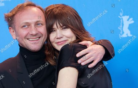 Polish Director Malgoksa Szumowska (r) and and Actor Andrzej Chyra (l) Pose at a Photocall For 'In the Name Of' (w Imie) During the 63rd Annual Berlin International Film Festival in Berlin Germany 08 February 2013 the Movie is Presented in the Competition at the Berlinale Runs From 07 to 17 February Germany Berlin