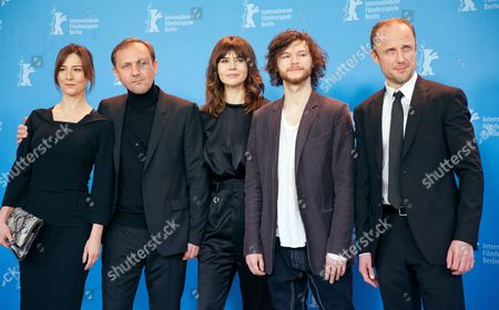 Stock Photo of Actress Maja Ostaszewska (l-r) Actor Andrzej Chyra Director Malgoksa Szumowska of Poland Actor Mateusz Kosciukiewicz and Actor Lukasz Simlat Pose at a Photocall For 'In the Name Of' (w Imie) During the 63rd Annual Berlin International Film Festival in Berlin Germany 08 February 2013 the Movie is Presented in the Competition at the Berlinale Runs From 07 to 17 February Germany Berlin
