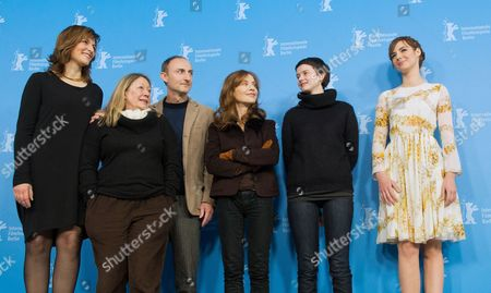 German Actress Martina Gedeck (l-r) French Actress Francoise Lebrun French Director Guillaume Nicloux and French Actresses Isabelle Huppert Pauline Etienne and Louise Bourgoin Pose at a Photocall For the Movie 'The Nun' ('la Religieuse') During the 63rd Annual Berlin International Film Festival in Berlin Germany 10 February 2013 the Movie is Presented in Competition at the Berlinale Germany Berlin