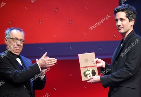 French Director Jean-bernard Marlin (r) Receives the Golden Bear For the Best Short Film For His Movie 'La Fugue' (the Runaway) From Festival Director Dieter Kosslick (l) During the Awards Ceremony of the 63rd Annual Berlin International Film Festival in Berlin Germany 16 February 2013 the Berlinale Runs From 07 to 17 February Germany Berlin