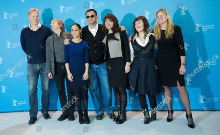 The International Jury with (l-r) Actor Tim Robbins (usa) Director Andreas Dresen (germany) Director Shirin Neshat (iran) Jury President and Director Wong Kar Wai (china /hong Kong) Director Susanne Bier (denmark) Director Athina Rachel Tsagari (greece) and Cinematographer Ellen Kuras (usa) Pose at a Photocall During the 63rd Annual Berlin International Film Festival in Berlin Germany 07 February 2013 the Berlinale Runs From 07 to 17 February Germany Berlin