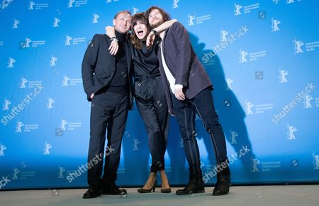 Director Malgoksa Szumowska of Poland (c) and Actors Mateusz Kosciukiewicz (r) and Andrzej Chyra (l) Pose at a Photocall For 'In the Name Of' (w Imie) During the 63rd Annual Berlin International Film Festival in Berlin Germany 08 February 2013 the Movie is Presented in the Competition at the Berlinale Runs From 07 to 17 February Germany Berlin
