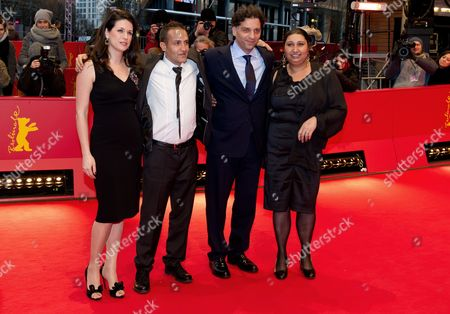 Producer Amra Baksic Camo (l-r) Actor Nazif Mujic Director Danis Tanovic and Actress Senada Alimanovic Arrive For the Premiere of the Movie 'An Episode in the Life of an Iron Picker' ('epizoda U Zivotu Beraca Zeljeza') During the 63rd Annual Berlin International Film Festival in Berlin Germany 13 February 2013 the Movie is Presented in Competition at the Berlinale Germany Berlin