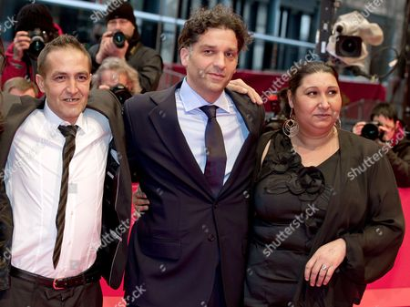 Actress Nazif Mujic (l-r) Director Danis Tanovic and Actress Senada Alimanovic Arrive For the Premiere of the Movie 'An Episode in the Life of an Iron Picker' ('epizoda U Zivotu Beraca Zeljeza') During the 63rd Annual Berlin International Film Festival in Berlin Germany 13 February 2013 the Movie is Presented in Competition at the Berlinale Germany Berlin