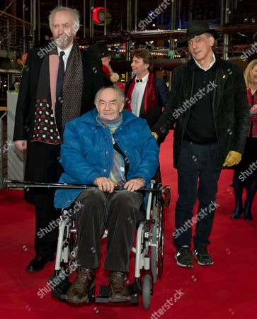 (l-r) British Actor Jonathan Pryce Dutch Director George Sluizer and Us Cinematographer Ed Lachman Arrive For the Premiere of 'Dark Blood' During the 63rd Annual Berlin International Film Festival in Berlin Germany 14 February 2013 the Movie is Presented in Competition out of Competition at the Berlinale Germany Berlin