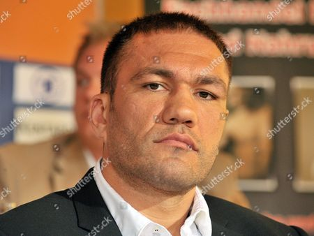 Bulgarian Boxer Kubrat Pulev Attends a Press Conference in Erfurt Germany 02 May 2012 Germany's Alexander Dimitrenko Will Fight Pulev in Their Heavyweight European Championship Title Bout in Erfurt on 05 May Germany Erfurt