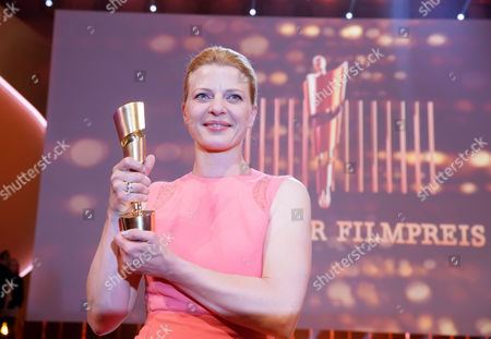 German Actress Joerdis Triebel Poses with Her Best Actress Award For 'Westen' During the 64th German Film Award 'Lola' Ceremony in Berlin Germany 09 May 2014 Germany Berlin