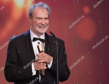 German Filmmaker Edgar Reitz Receives the Best Director Award For 'Die Andere Heimat' During the 64th German Film Award 'Lola' Ceremony in Berlin Germany 09 May 2014 Germany Berlin