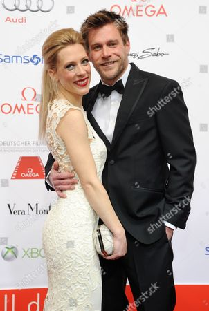 German Actor Ken Duken (r) and His Wife Marisa Leonie Bach Arrive For the 40th German Film Ball at the Hotel Bayerischen Hof in Munich Germany 19 January 2013 Germany Munich