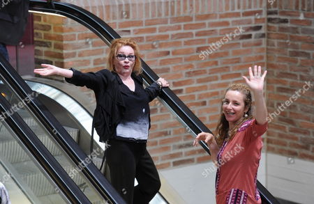 Stock Photo of German Singer and Actress Ingrid Caven (l) and Festival Director Diana Iljine Attend an Homage to Late German Film Director Rainer Fassbinder at Gasteig During the Munich Film Festival 02 July 2012 the Festival Runs Until 07 July 2012 Germany Munich