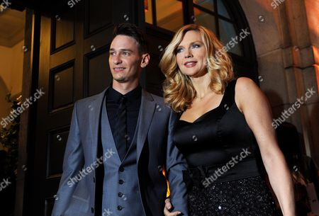 German-russian Actor Vladimir Burlakov (l) and German Actress Veronica Ferres Pose For Photos at the the Bavarian Film Prize 2011 Event in Munich Germany Late 20 January 2012 the Bavarian Film Prize is One of the Most Prestigious Ones in German Cinema Industry Germany Munich