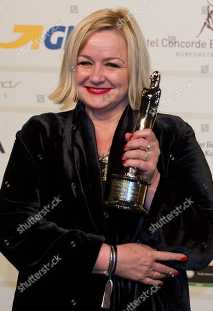 British Production Designer Sarah Greenwood Poses with Her European Production Designer Award After the 26th European Film Awards Ceremony in Berlin Germany 07 December 2013 Germany Berlin