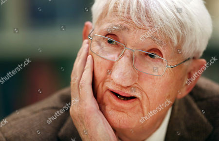 German Philosopher Juergen Habermas Gives a Press Conference at Heinrich Heine Institute in Duesseldorf Germany 12 December 2012 Habermas Will Receive the Heine Prize on 14 December 2012 Which is Endowed with 50 000 Euros Germany Duesseldorf