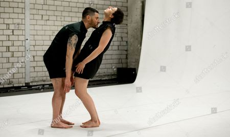 Dancers Jeremy Wade (l) and Maria F Scaroni Perform During a Dress Rehearsal For 'Dark Material' in Hamburg Germany 06 August 2013 the Piece Will Be Premiere on 08 August As Part of the International Hamburg Summer Festival Germany Hamburg